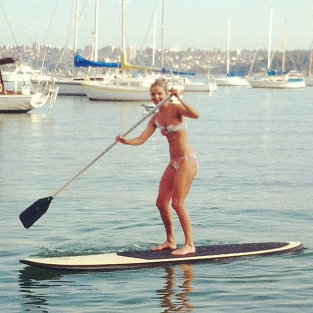 Kate paddleboard