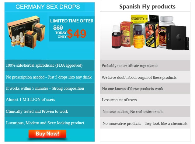 germany sex drops vs. spanish fly