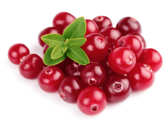 raw cranberries
