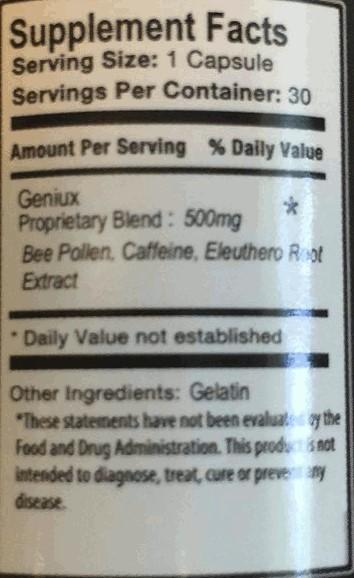 geniux ingredients