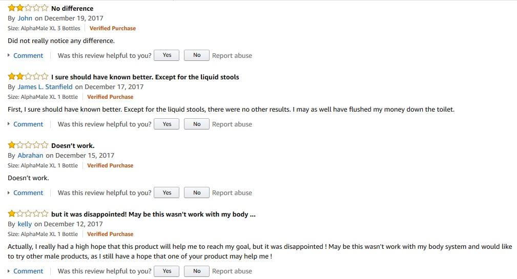 Alpha Male xl reviews