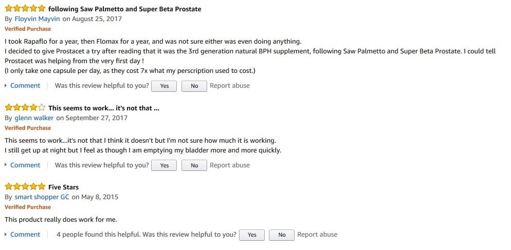 Prostacet reviews
