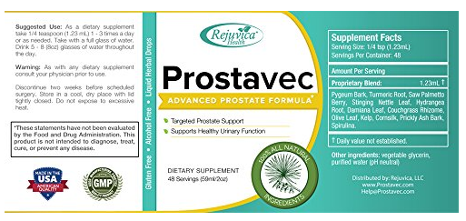 prostavec ingredients