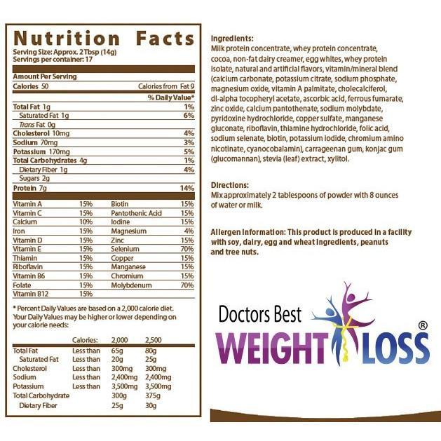 doctor's best ingredients label