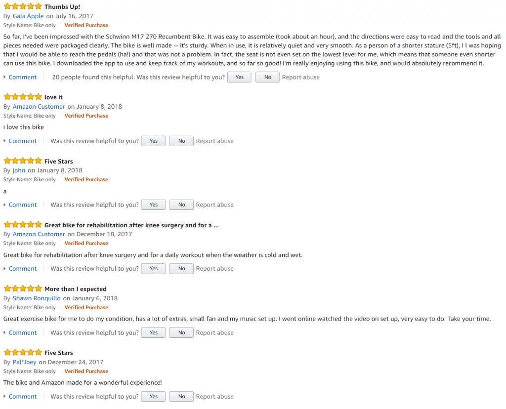 schwinn 270 reviews