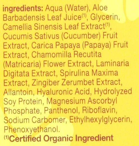 Hawaiian Eye Gel ingredients