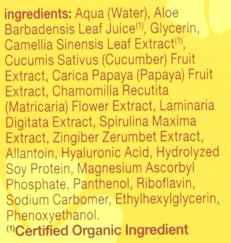 Hawaiian Eye Gel ingredients