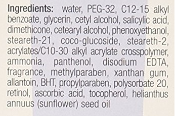Neutrogena Moisturizer ingredients