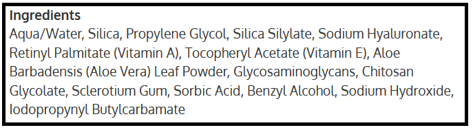 Roloxin Lift ingredients