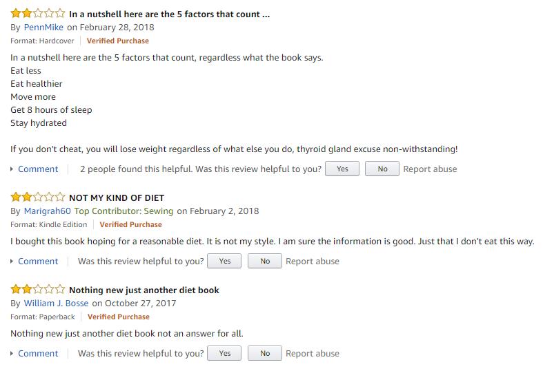 5-Factor Diet reviews