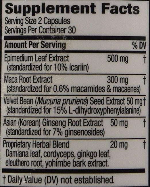 Horny Goat Weed ingredients
