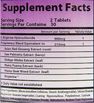 Purple Rhino ingredients