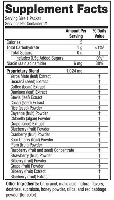 SkinnyStix ingredients