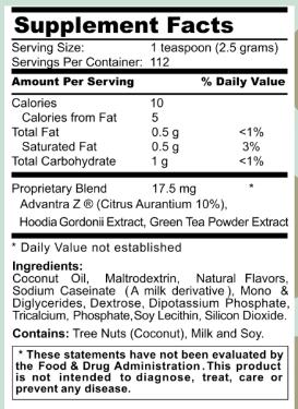 Leaner Creamer ingredients