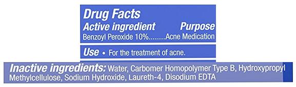 Persa-Gel 10 ingredients