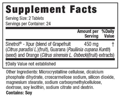 Stored-Fat Belly Burner ingredients