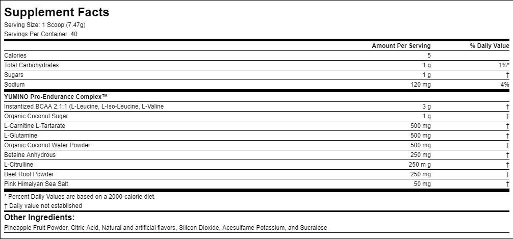 Unico Yumino ingredients