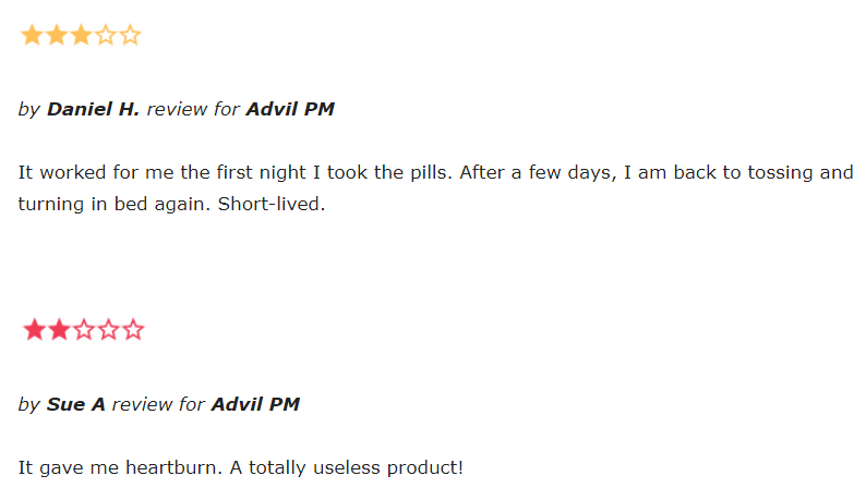 Advil PM reviews