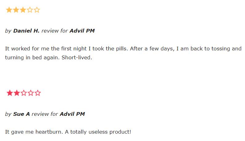 Advil PM reviews