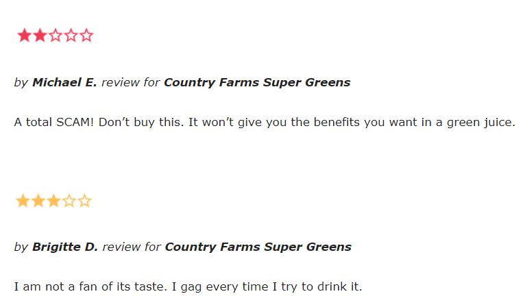 Country Farm Super Greens reviews