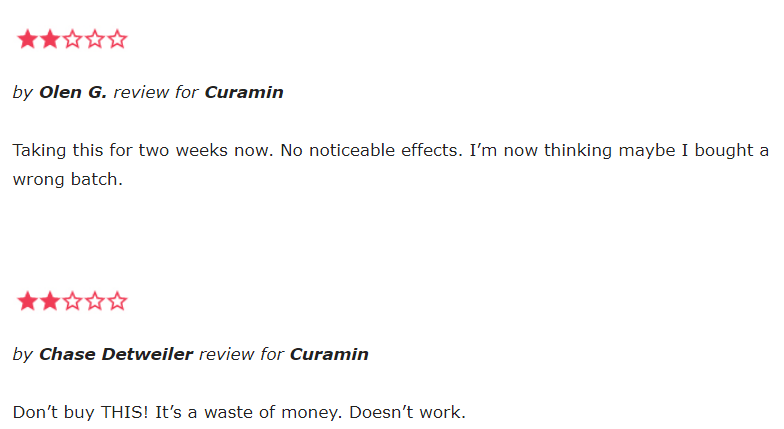 Curamin reviews