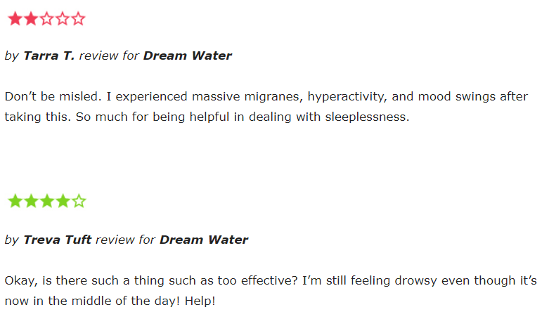 Dream Water reviews
