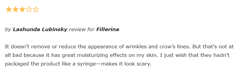 Fillerina reviews