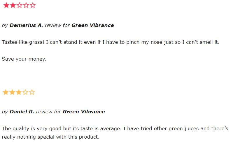 Green Vibrance reviews