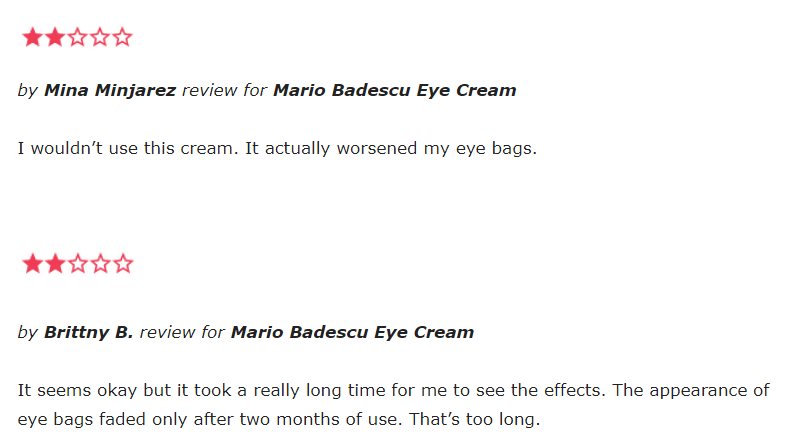 Mario Badescu Eye Cream reviews