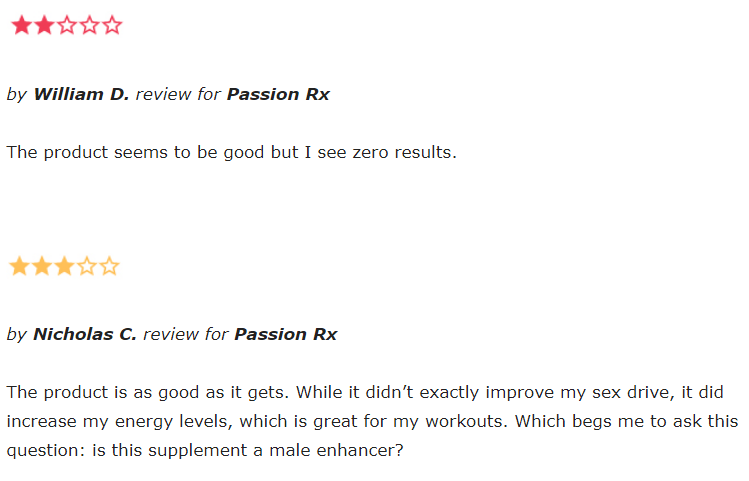 Passion Rx reviews