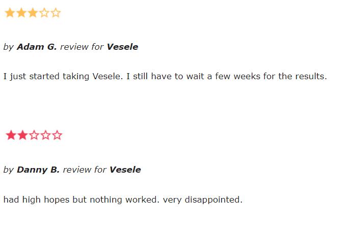 Vesele reviews