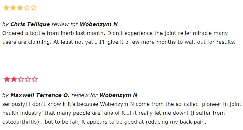 Wobenzym N reviews