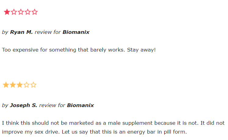 biomanix reviews from amazon