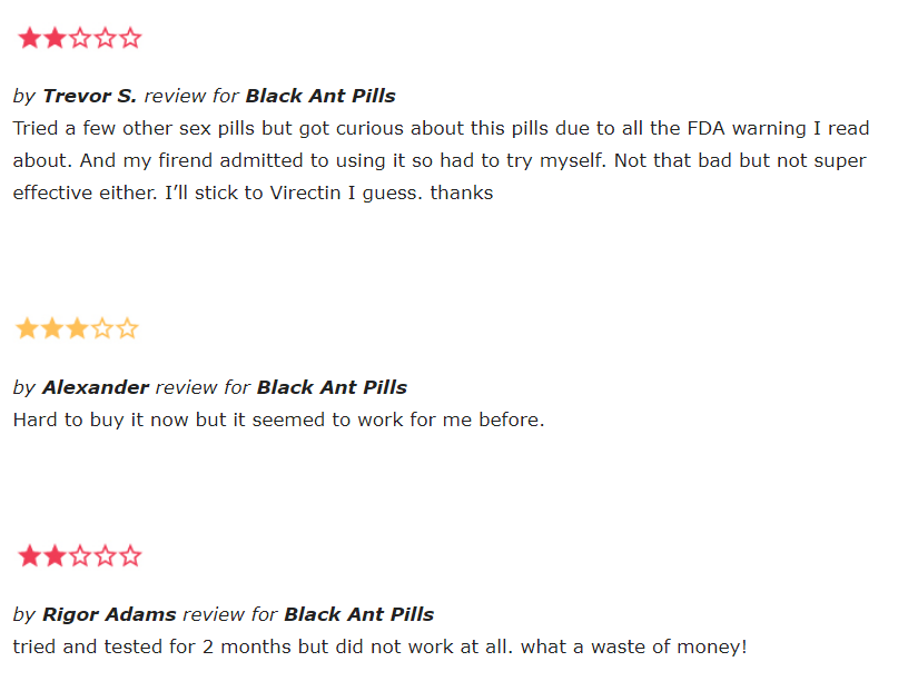 black ant pills reviews