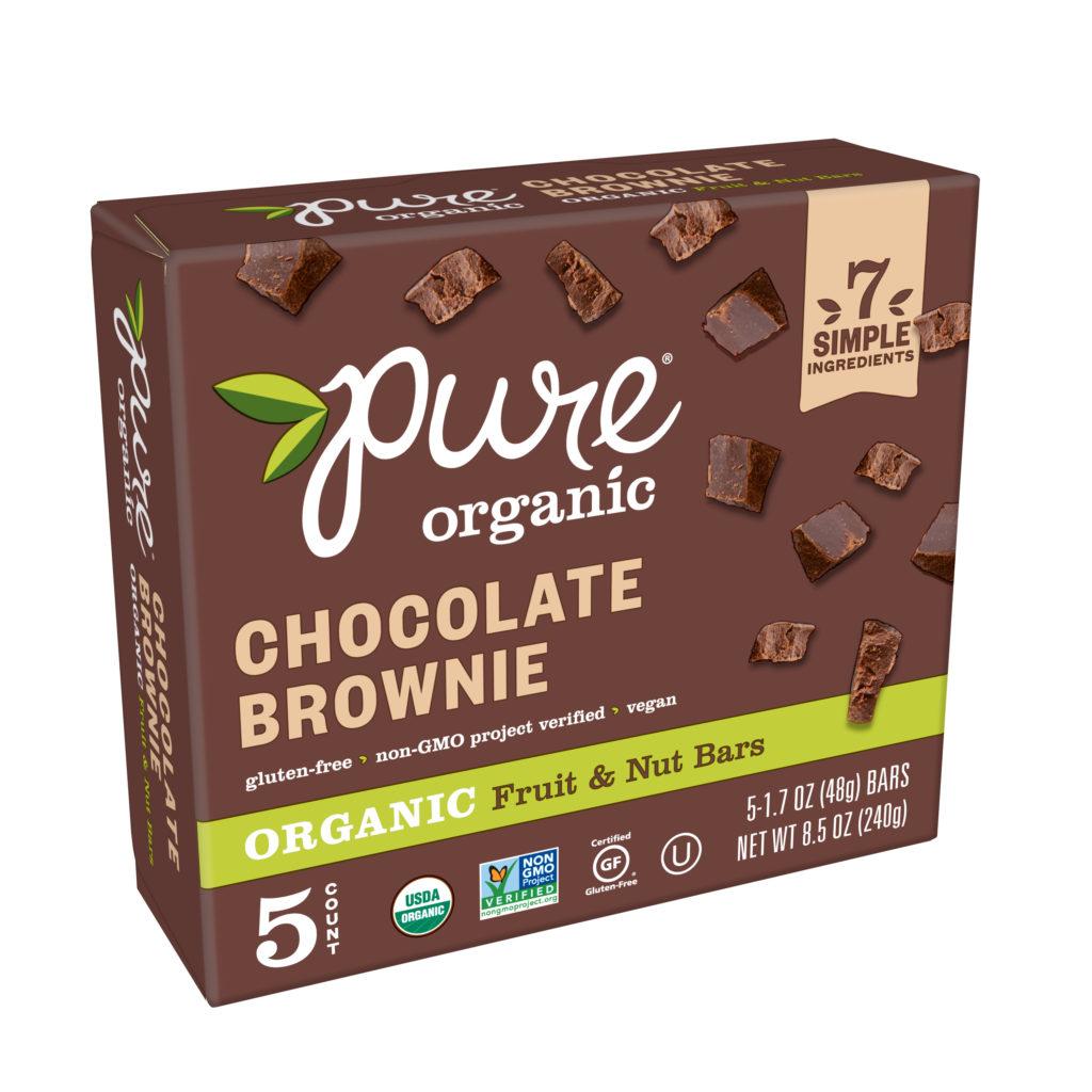 Pure Organic Chocolate Brownie vegan bars