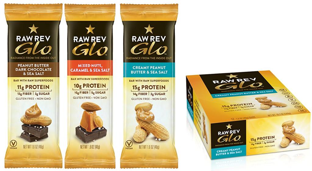 Raw Rev Glo Vegan Protein Bar