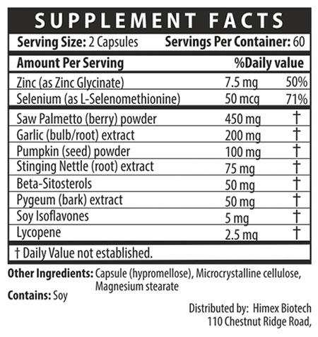 Prostara supplemental facts